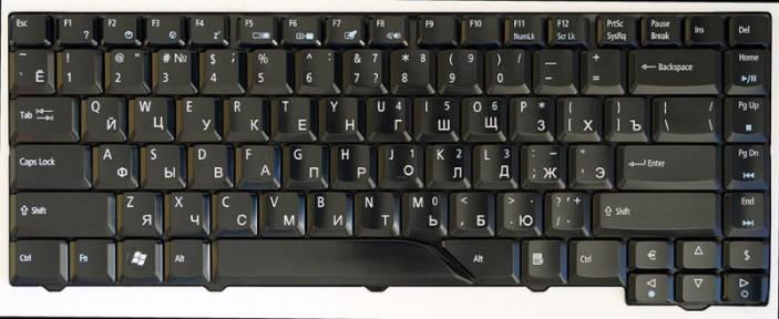 Клавиатура для ноутбука Acer Aspire 5520 черный, фото 2