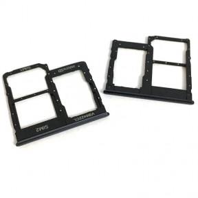 Тримач Sim-карти і карти пам'яті Samsung A405F Galaxy A40, чорний, на дві Sim-карти