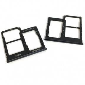 Тримач Sim-карти і карти пам'яті Samsung A405F Galaxy A40, чорний, на дві Sim-карти, фото 2