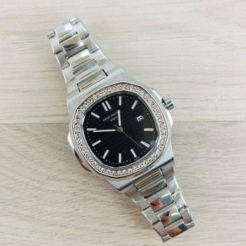 Часы Patek Philippe Geneve Silver-Black - 226091