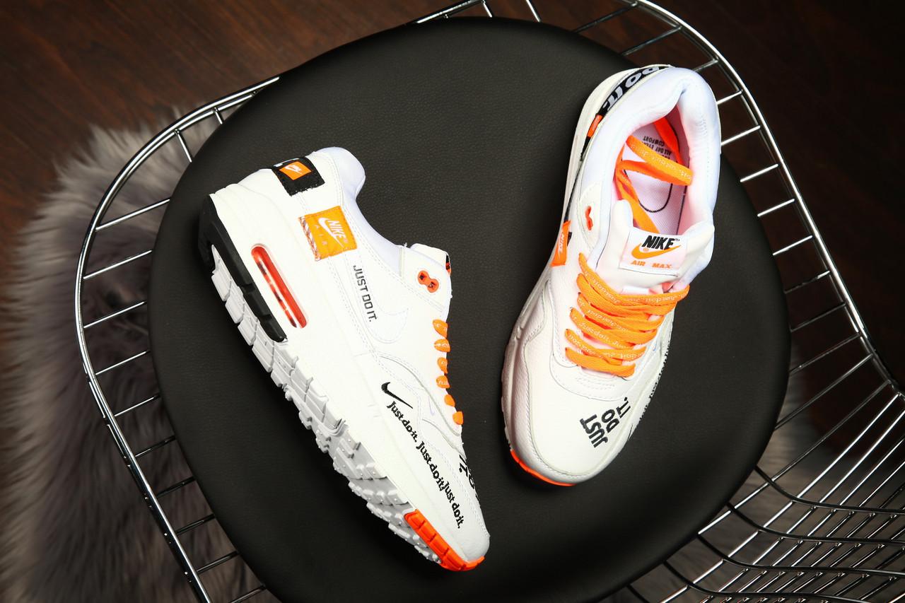 Кроссовки мужские Nike  Air Max 1 Just Do It Pack White  размеры в наличии ► [  40 41 42 43 44 45  ]