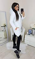 Куртка женская зимняя чёрная, белая белый, 48-50