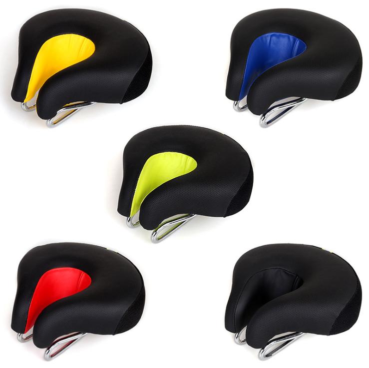 Седло вело / велосипедное анатомическое BATFOX K-0284 с выемкой по центру PU кожа (5 цветов)