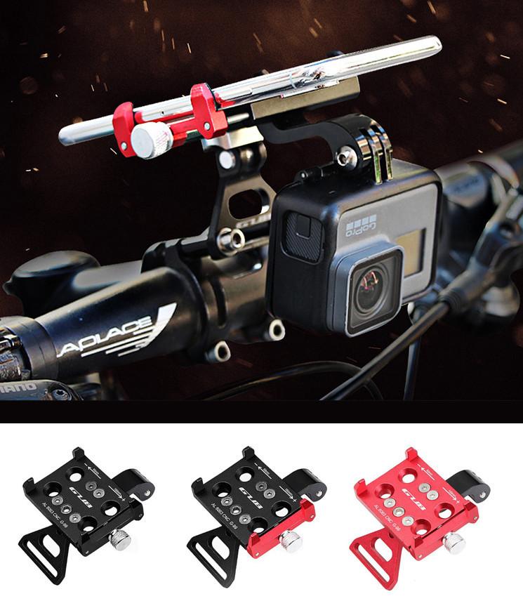"""Кріплення на кермо тримач 2-В-1 для телефону і екшн камери GoPro / ліхтаря GUB G-99 АЛЮ 59-100 мм / ~ 4.7-7"""""""