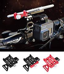 """Крепление на руль держатель 2-В-1 для телефона и экшн камеры GoPro / фонаря GUB G-99 АЛЮ 59-100 мм / ~ 4.7-7"""""""