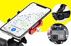 """Кріплення на кермо тримач 2-В-1 для телефону і екшн камери GoPro / ліхтаря GUB G-99 АЛЮ 59-100 мм / ~ 4.7-7"""", фото 2"""