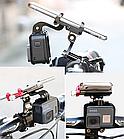 """Кріплення на кермо тримач 2-В-1 для телефону і екшн камери GoPro / ліхтаря GUB G-99 АЛЮ 59-100 мм / ~ 4.7-7"""", фото 5"""