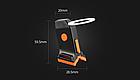 """Підсідельна вело мигалка / габарит у вигляді фігур (одно-/дво-кольорові) USB зарядка / COB діоди ТМ """"JAKROO"""", фото 4"""
