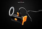 """Підсідельна вело мигалка / габарит у вигляді фігур (одно-/дво-кольорові) USB зарядка / COB діоди ТМ """"JAKROO"""", фото 5"""
