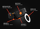 """Підсідельна вело мигалка / габарит у вигляді фігур (одно-/дво-кольорові) USB зарядка / COB діоди ТМ """"JAKROO"""", фото 8"""