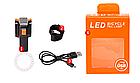 """Підсідельна вело мигалка / габарит у вигляді фігур (одно-/дво-кольорові) USB зарядка / COB діоди ТМ """"JAKROO"""", фото 10"""