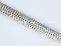 Стебельки для цветов — Серебро - (№26) - Ø0,45 мм - L25 см - 200 шт.