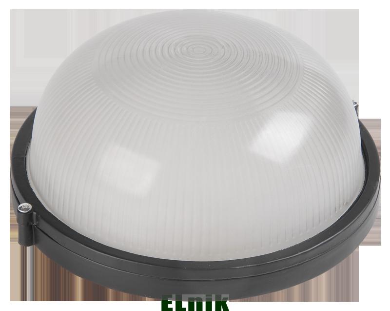 Светильник НПП1301 круг 60Вт IP54 черный IEK