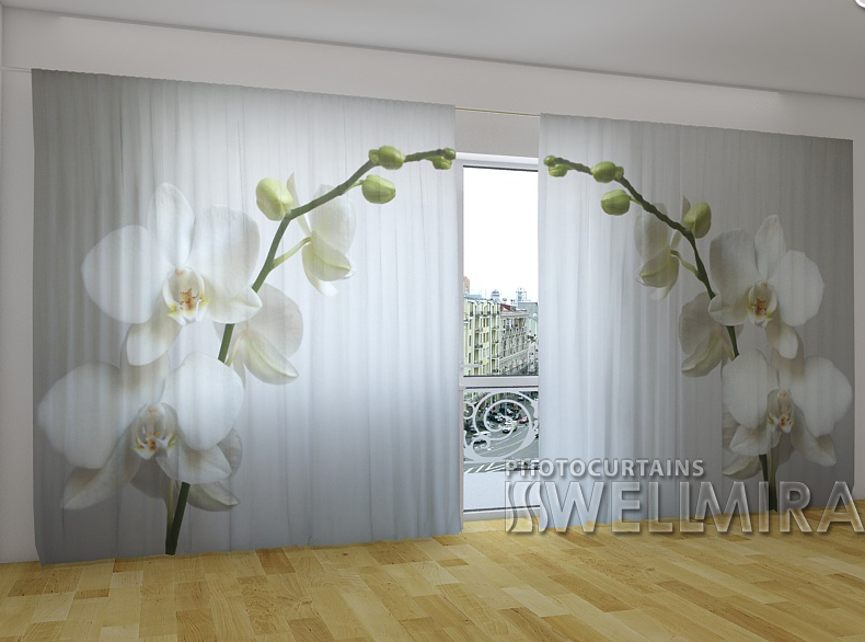 """Панорамні Фотошторы """"Ризька орхідея"""" 270 х 500 см"""