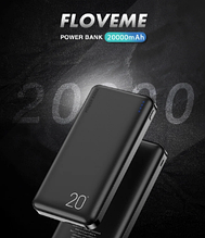 Внешний универсальный аккумулятор FLOVEME Power Bank 20000 мАч P2W 2 USB порта