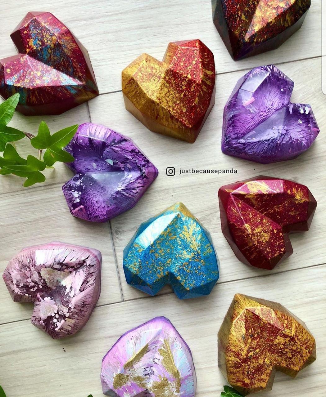 """Молд """"Сердце"""" для заливки смолы глины шоколада,льда (пищевой платиновый силикон), 1 шт."""