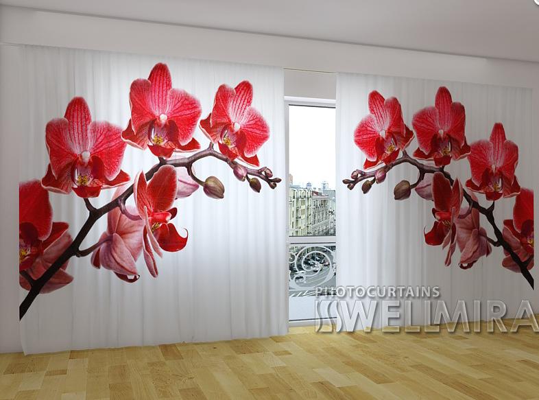 "Панорамні Фотошторы ""Королева орхідей"" 270 х 500 см"