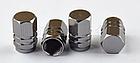 Колпачки на ниппель алюминиевые ЧПУ Шредер (Schrader) вело / авто / мото, комплект (4 шт), фото 6