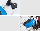 Замок мото / вело на дискове гальмо / спиці протиугінний сталевий з сигналізацією, акселерометром і ключем, фото 6