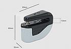 Замок мото / вело на дискове гальмо / спиці протиугінний сталевий з сигналізацією, акселерометром і ключем, фото 7