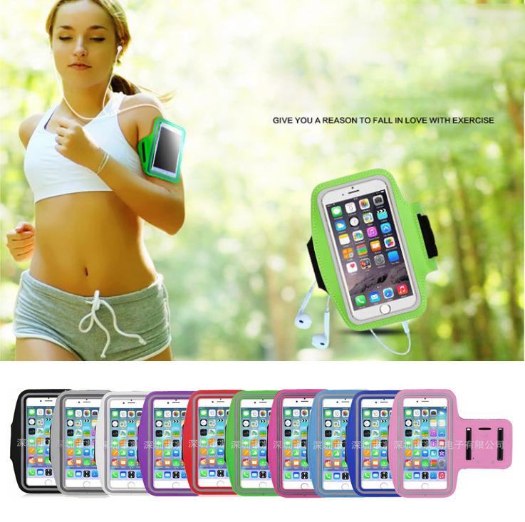 """Чехол на руку для телефона 4.3-4.9"""" / 4.9-5.5"""" неопрен, сенсорное окно, отражатели, для вело / бега / фитнеса"""