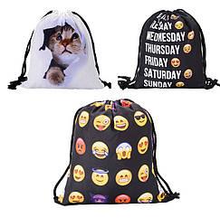Універсальний спортивний / міський складаний портативний (65 г) рюкзак-мішок / рюкзак-торбинка / рюкзак-торба