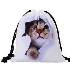 Універсальний спортивний / міський складаний портативний (65 г) рюкзак-мішок / рюкзак-торбинка / рюкзак-торба КІТ