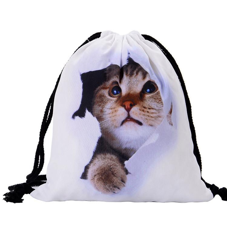 Купить Универсальный спортивный / городской складной портативный (65 г) рюкзак-мешок / рюкзак-котомка / рюкзак-торба КОТ