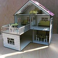 """Домик для кукол деревянный """"Коттедж"""" + мебель в подарок"""