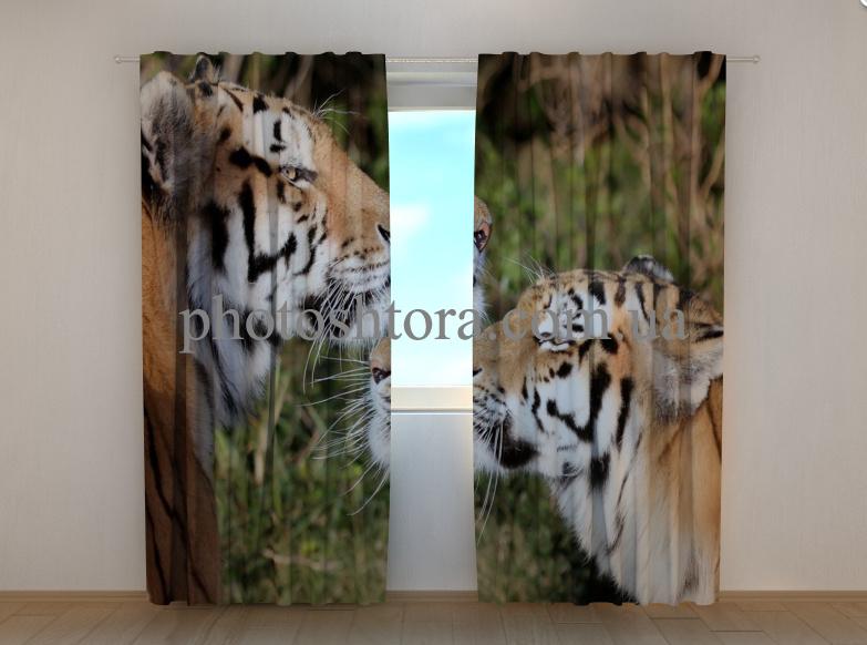 """Фотошторы """"Відданість тигрів"""" 250 х 260 см"""