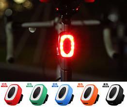 """Діодна """"поліцейська"""" швидкознімна вело / велосипедна мигалка / габарит """"DEROACE"""" USB HJ-801 / IPX5"""