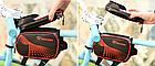 """Сумка на раму «штани» ТМ «ROBESBON» PU/PVC водоупорная з відділенням для телефону / сенсорної областю до 6.2"""", фото 7"""