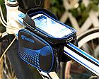 """Сумка на раму «штани» ТМ «ROBESBON» PU/PVC водоупорная з відділенням для телефону / сенсорної областю до 6.2"""", фото 9"""