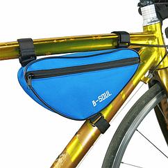 Велосумка підрамна ТМ «B-SOUL» YA191 треуголка / компактна / водоупорная / швидкий доступ (7 кольорів) БЛАКИТНИЙ