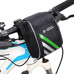 Сумка на руль / плечо ТМ «B-SOUL» YA168 функциональная / быстросъемная / 600D нейлон + плечевой ремень