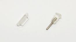 Заглушки силиконовые защитные от грязи, комплект: аудио Mini-Jack 3.5 mm + Micro-USB / iPhone 5, 6 / Type-C IPHONE 6, ПРОЗРАЧНЫЙ