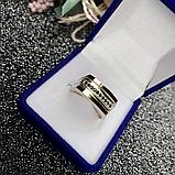 Печатка в серебре с золотом и цирконом Том, фото 3