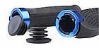 Грипсы / вело ручки с резиновой цепкой накаткой 22.2 мм/ с площадкой для отдыха кисти/ два алю замка/ заглушки, фото 3
