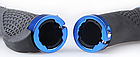 Грипсы / вело ручки с резиновой цепкой накаткой 22.2 мм/ с площадкой для отдыха кисти/ два алю замка/ заглушки, фото 4