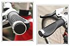 Грипсы / вело ручки с резиновой цепкой накаткой 22.2 мм/ с площадкой для отдыха кисти/ два алю замка/ заглушки, фото 5