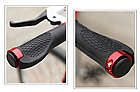 Грипсы / вело ручки с резиновой цепкой накаткой 22.2 мм/ с площадкой для отдыха кисти/ два алю замка/ заглушки, фото 8