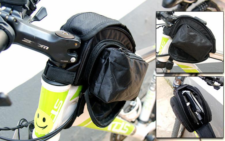 Сумка на раму ТМ «WOLFBASE» TQ-2605 PVC швидкознімна водоупорная з відкидними «штанами» + чохол від дощу