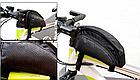 Сумка на раму ТМ «WOLFBASE» TQ-2605 PVC швидкознімна водоупорная з відкидними «штанами» + чохол від дощу, фото 2