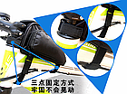 Сумка на раму ТМ «WOLFBASE» TQ-2605 PVC швидкознімна водоупорная з відкидними «штанами» + чохол від дощу, фото 5