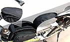 Сумка на раму ТМ «WOLFBASE» TQ-2605 PVC швидкознімна водоупорная з відкидними «штанами» + чохол від дощу, фото 6
