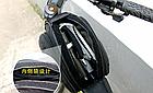 Сумка на раму ТМ «WOLFBASE» TQ-2605 PVC швидкознімна водоупорная з відкидними «штанами» + чохол від дощу, фото 7