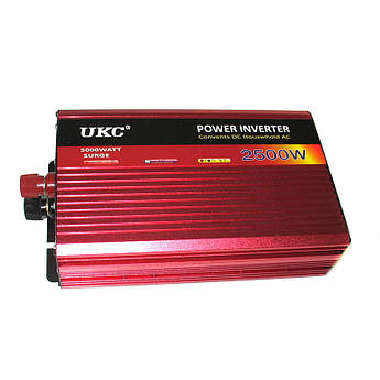 Авто инвертор преобразователь напряжения UKC 24В-220В AR 2500Вт c функцией плавного пуска