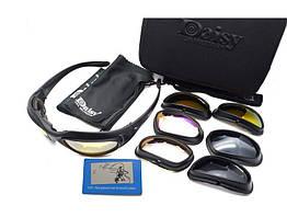 Спортивные / тактические очки со сменными линзами Daisy C5 (С ПОЛЯРИЗАЦИЕЙ)