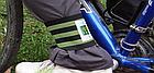 Стяжка эластичная широкая светоотражающая на ногу для защиты штанины /  штанов от попадания в цепь / звезду, фото 2