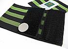 Стяжка эластичная широкая светоотражающая на ногу для защиты штанины /  штанов от попадания в цепь / звезду, фото 5